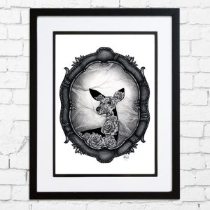 "15""x19"" Basic Black Framed Deluxe Print"